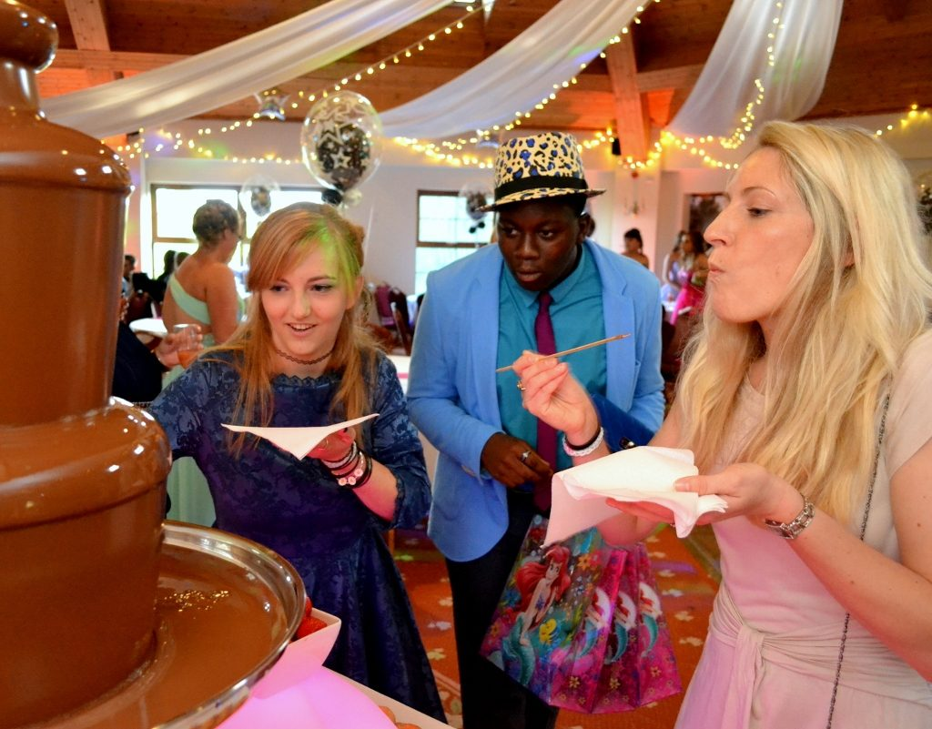 Oxford Chocolate Fountain Hire Summer School Prom