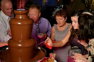 Large Medium Double Fondue Hire Cirencester - Chocolate Fountains R Us
