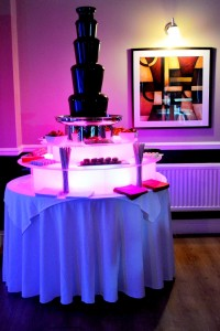 Taunton, Somerset, Chocolate Fountain Event - Chocolate Fountains R Us